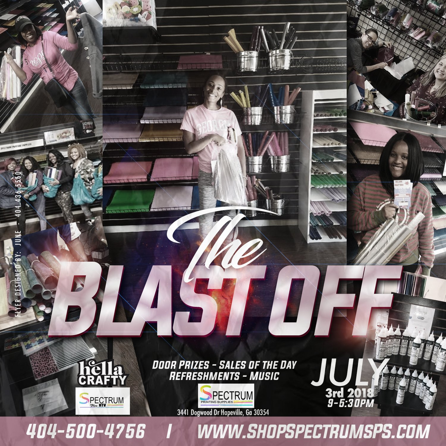 The Blast Off Spectrum Printing Supplies July 3rd